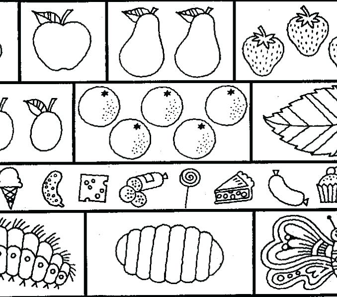 678x597 Caterpillar Coloring Page The Very Hungry Caterpillar Coloring