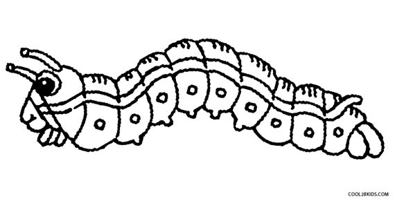 570x291 Printable Caterpillar Coloring Pages For Kids