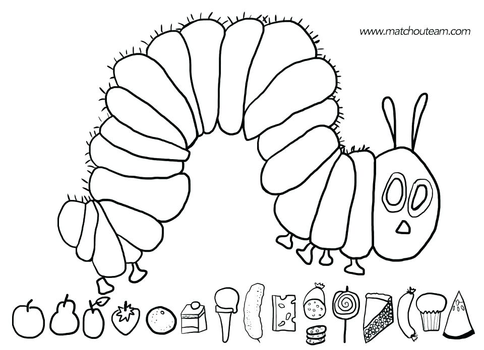 960x695 The Very Hungry Caterpillar Coloring Pages Printables Very Hungry