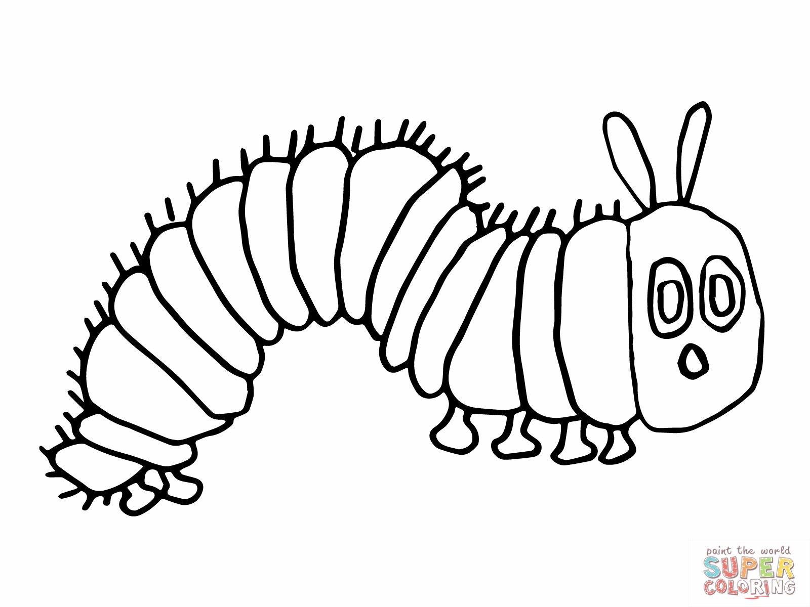 1600x1200 Very Hungry Caterpillar Coloring Page Perfect Very Hungry