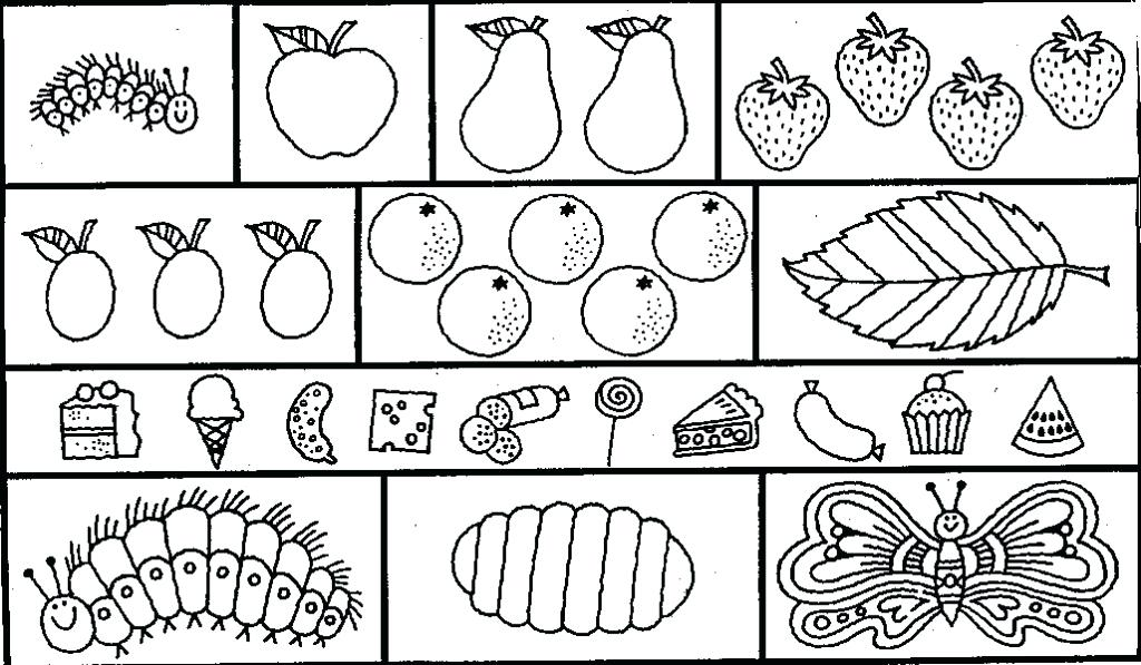 1024x597 Very Hungry Caterpillar Colouring Sheets Hungry Caterpillar Very