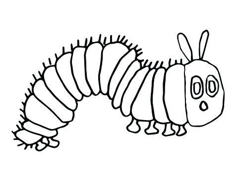 480x360 Coloring Pages As Well As Very Hungry Caterpillar Coloring Sheets