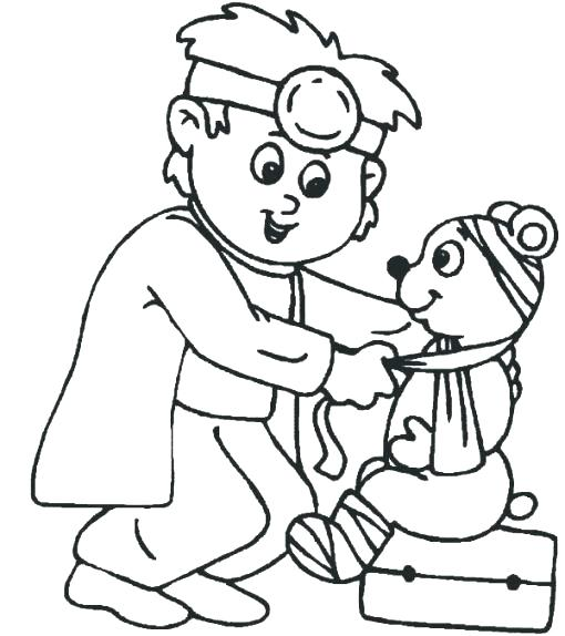 Vet Coloring Pages At Getdrawings Com Free For Personal Use Vet