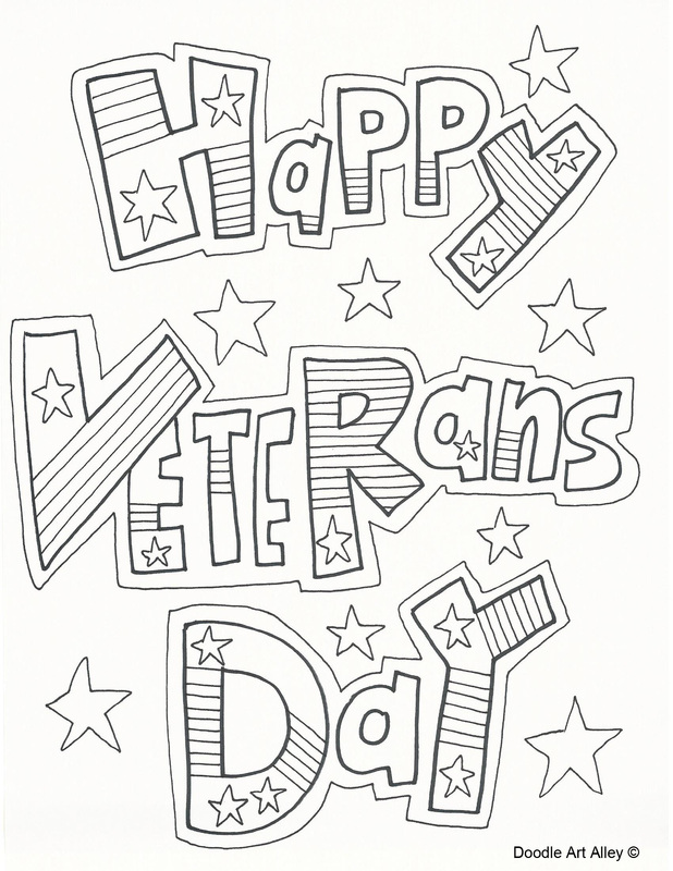 Veterans Day Coloring Pages For Kids