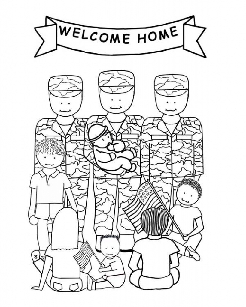 819x1024 Inspiring Free Veterans Day Coloring Pages Top Ideas