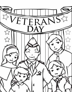 300x383 The Stars And Stripes On Cemetary Veterans Day Coloring Page