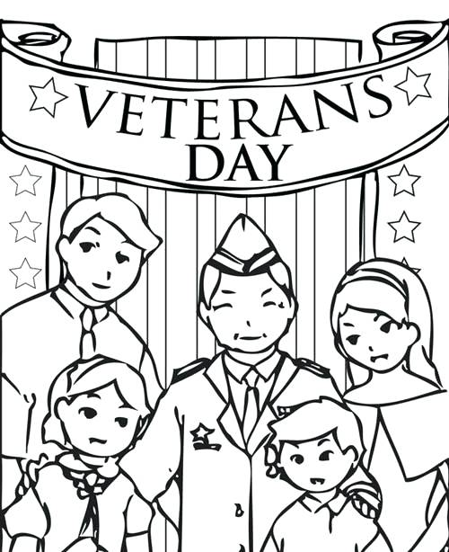 500x614 Veterans Day Coloring Pages For First Grade Kids Coloring Veterans