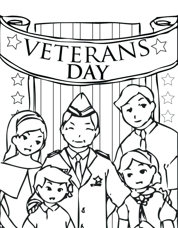 600x767 Veterans Day Coloring Pages Veterans Day Coloring Page Printable