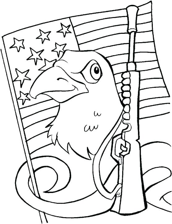 556x722 Eagle Color Page Veterans Day Coloring Pages Eagle Flag Rifle