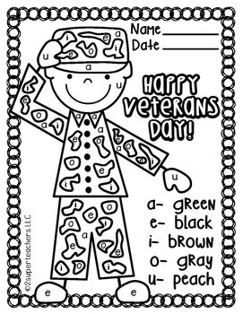 Veterans Day Coloring Pages Kindergarten