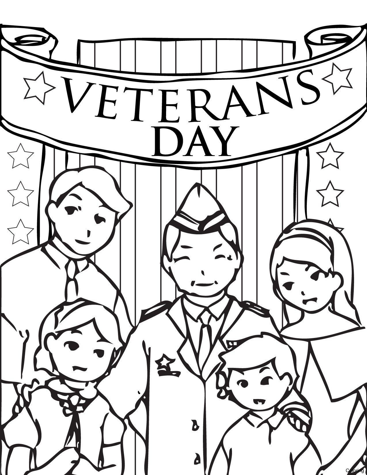 1275x1650 Veterans Day Coloring Page Discover All