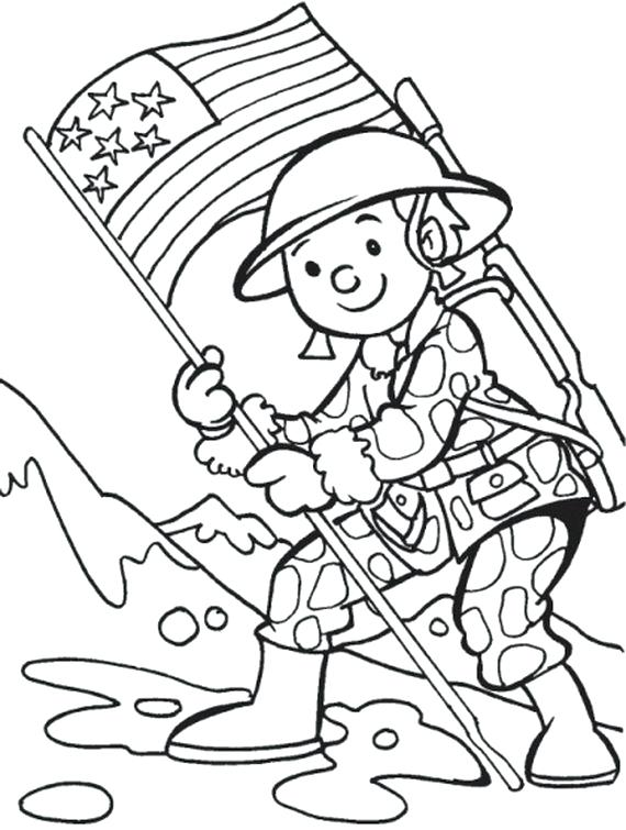 570x755 Add Fun Veterans Day Coloring Pages For Kids Coloring Pages