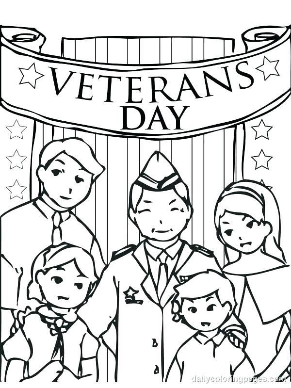 600x800 Veteran Coloring Pages Related Post Veteran Thank You Coloring