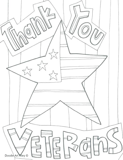Veterans Day Printable Coloring Pages