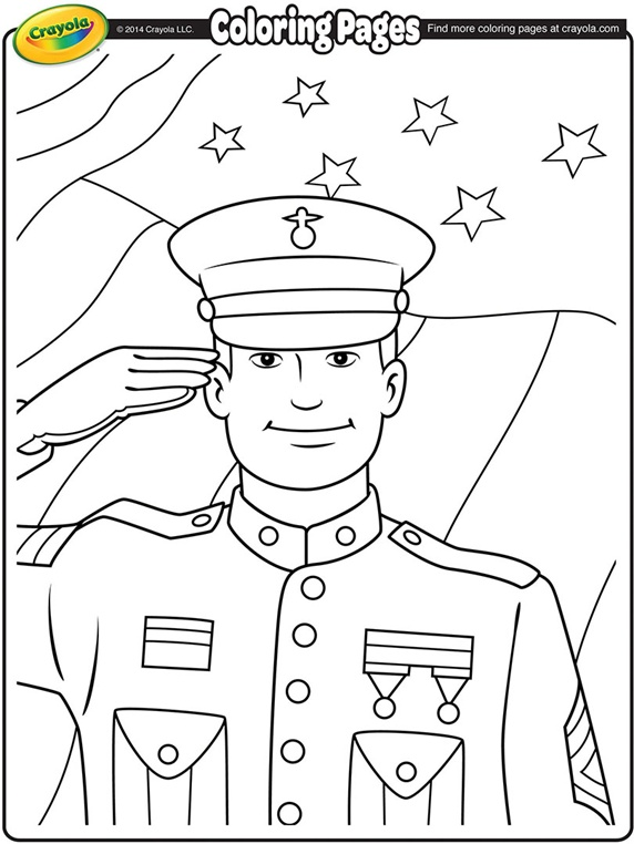 572x762 Veterans Day Thank You Coloring Page