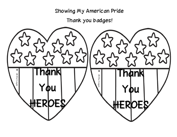 621x480 Veterans Day Thank You Coloring Page