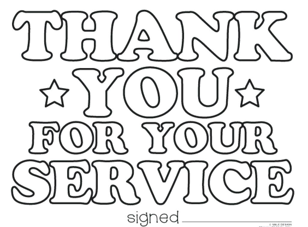 1024x757 Stunning Amusing Thank You Coloring Pages Online Happy Veterans