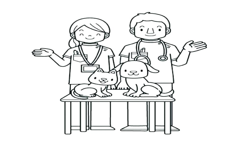 The Best Free Veterinarian Coloring Page Images Download From 50