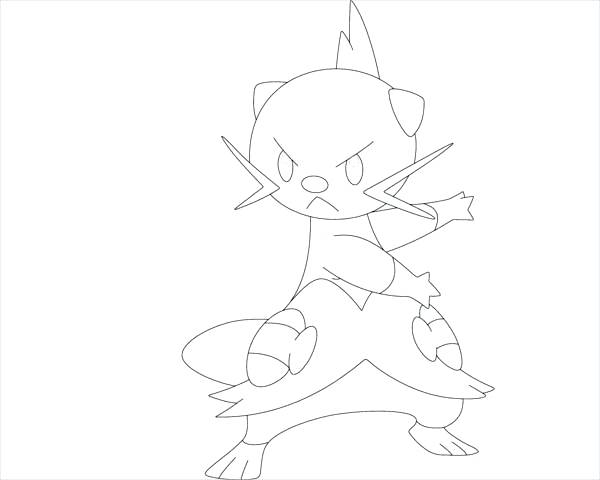 600x480 Pokemon Black And White Colouring Pages Idea Printable Coloring