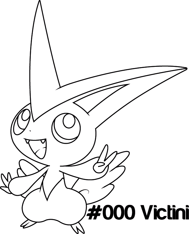 639x788 Pokemon Victini Coloring Pages, Victini Colouring Pages
