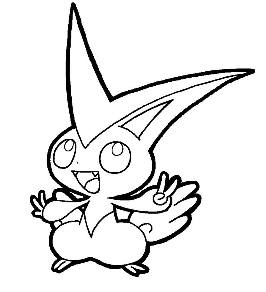 852x937 Victini Coloring Pages Collection For Kids Fine