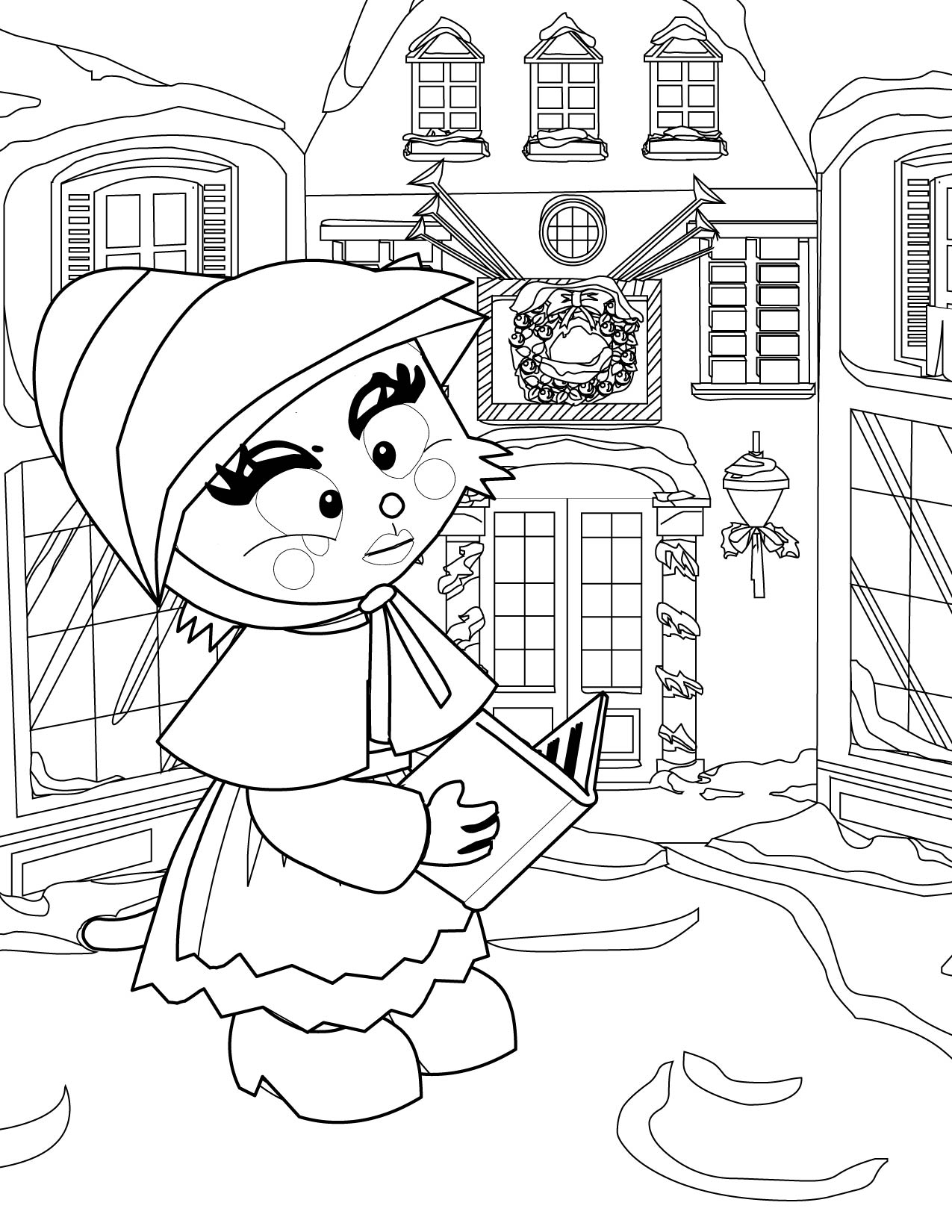 1275x1650 Victorian Christmas Coloring Page