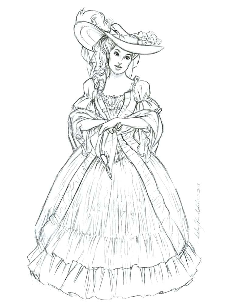 750x1000 Victorian Coloring Pages Simple Victorian Coloring Pages Woman