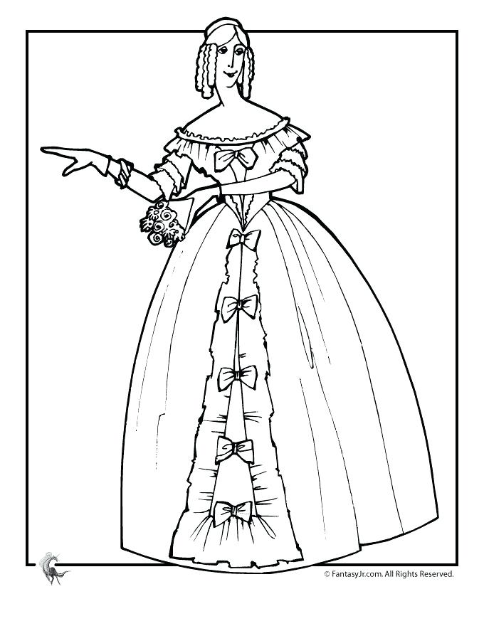 680x880 Victorian Coloring Pages Woman Printable Hard Coloring Pages
