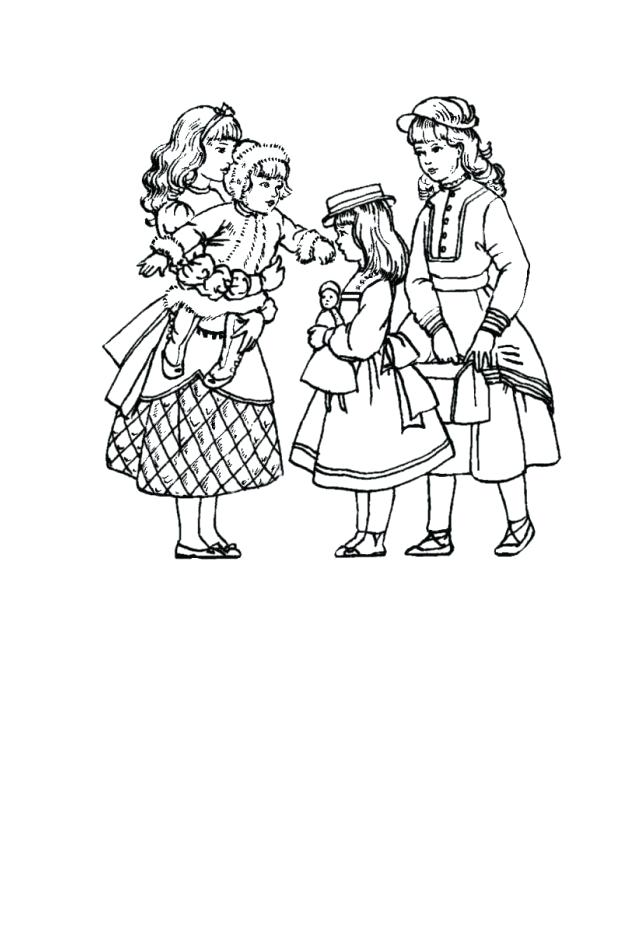 634x946 Victorian Coloring Pages