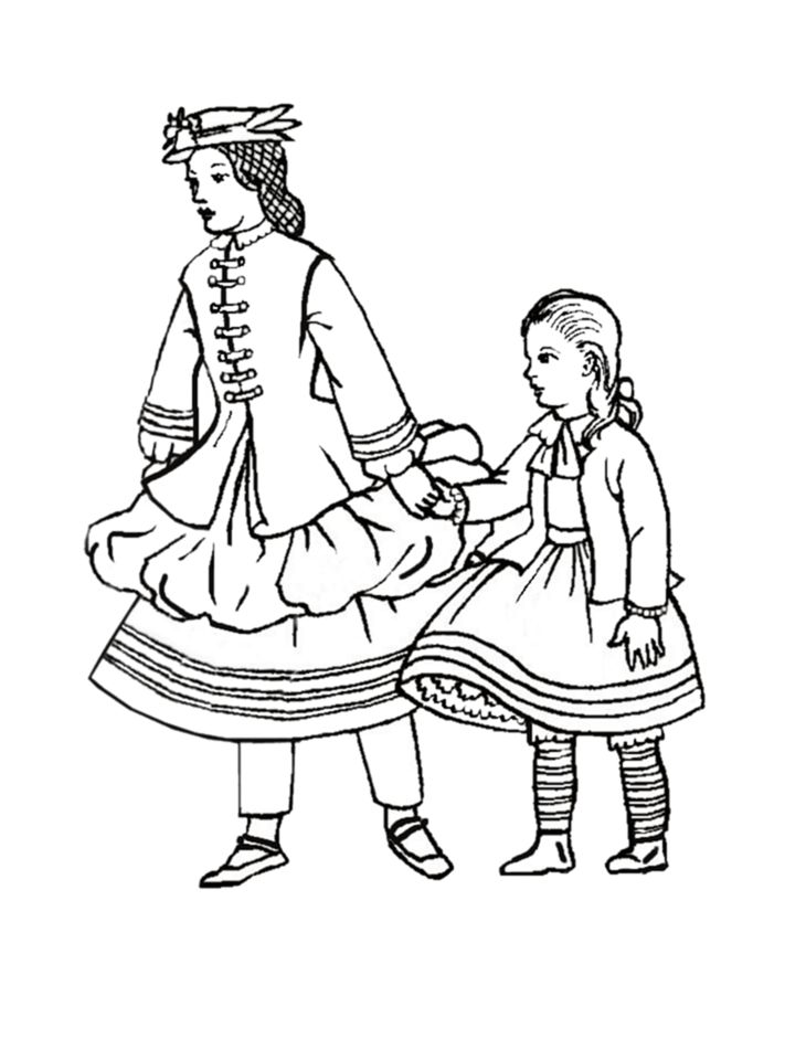 730x950 Victorian Colouring Sheets Children In Costume History