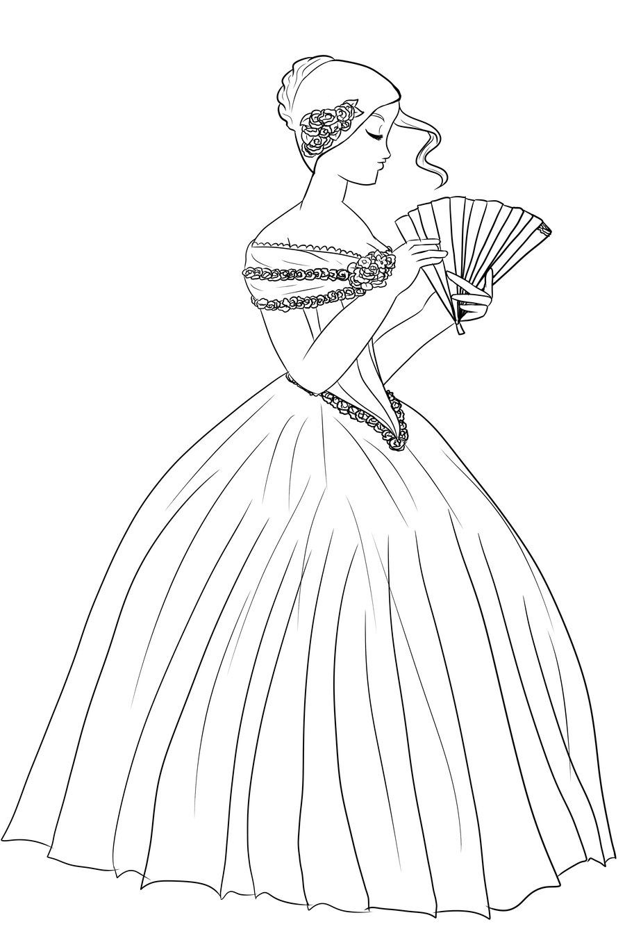900x1350 Pics Of Victorian Coloring Pages Babies