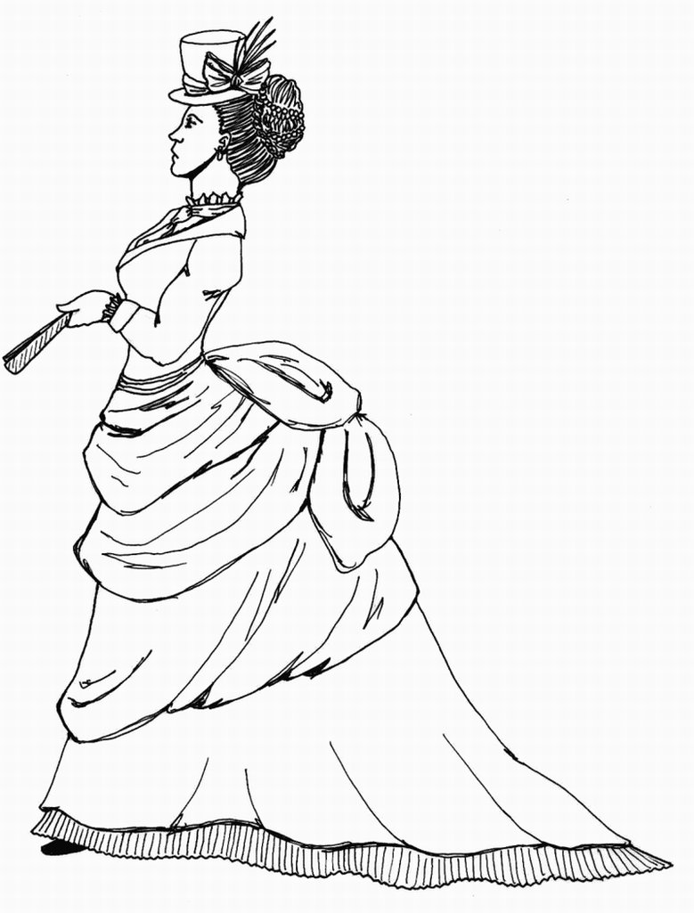 779x1025 Victorian Woman Coloring Pages Download And Print For Free