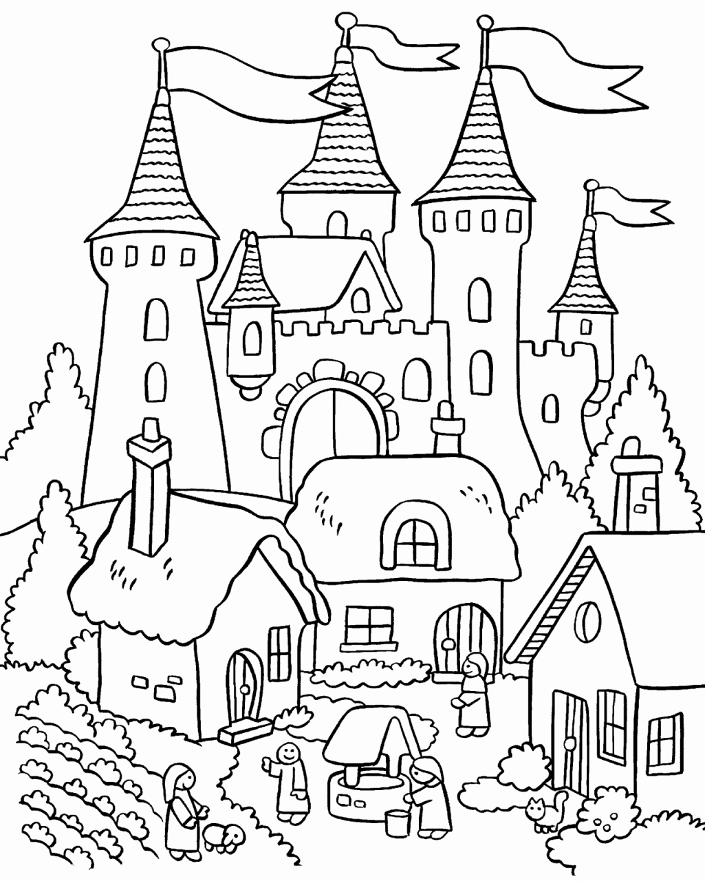 1025x1280 Houses Coloring Book An Adult Coloring Book Of Architecture