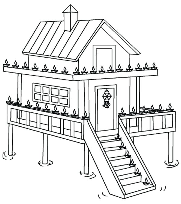 600x675 Houses Coloring Pages Free Coloring Pages For Adults Houses