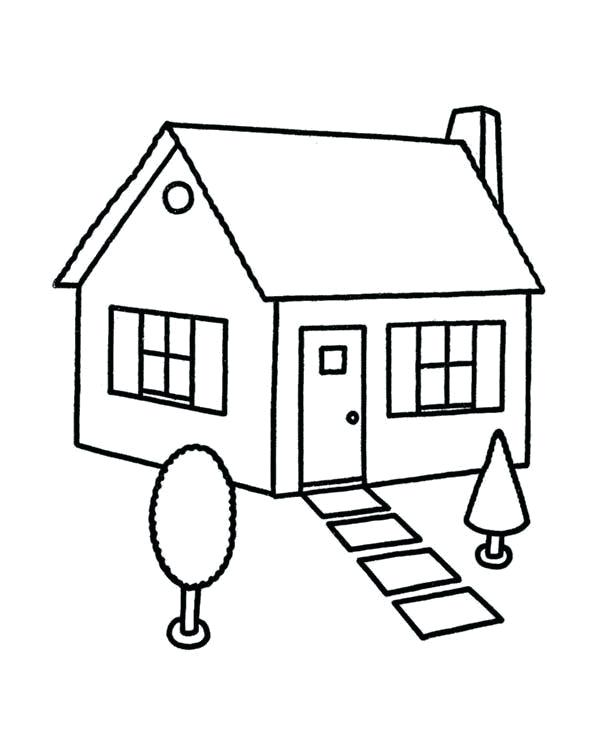 600x734 Houses Coloring Pages House Coloring Page Luxury House Coloring