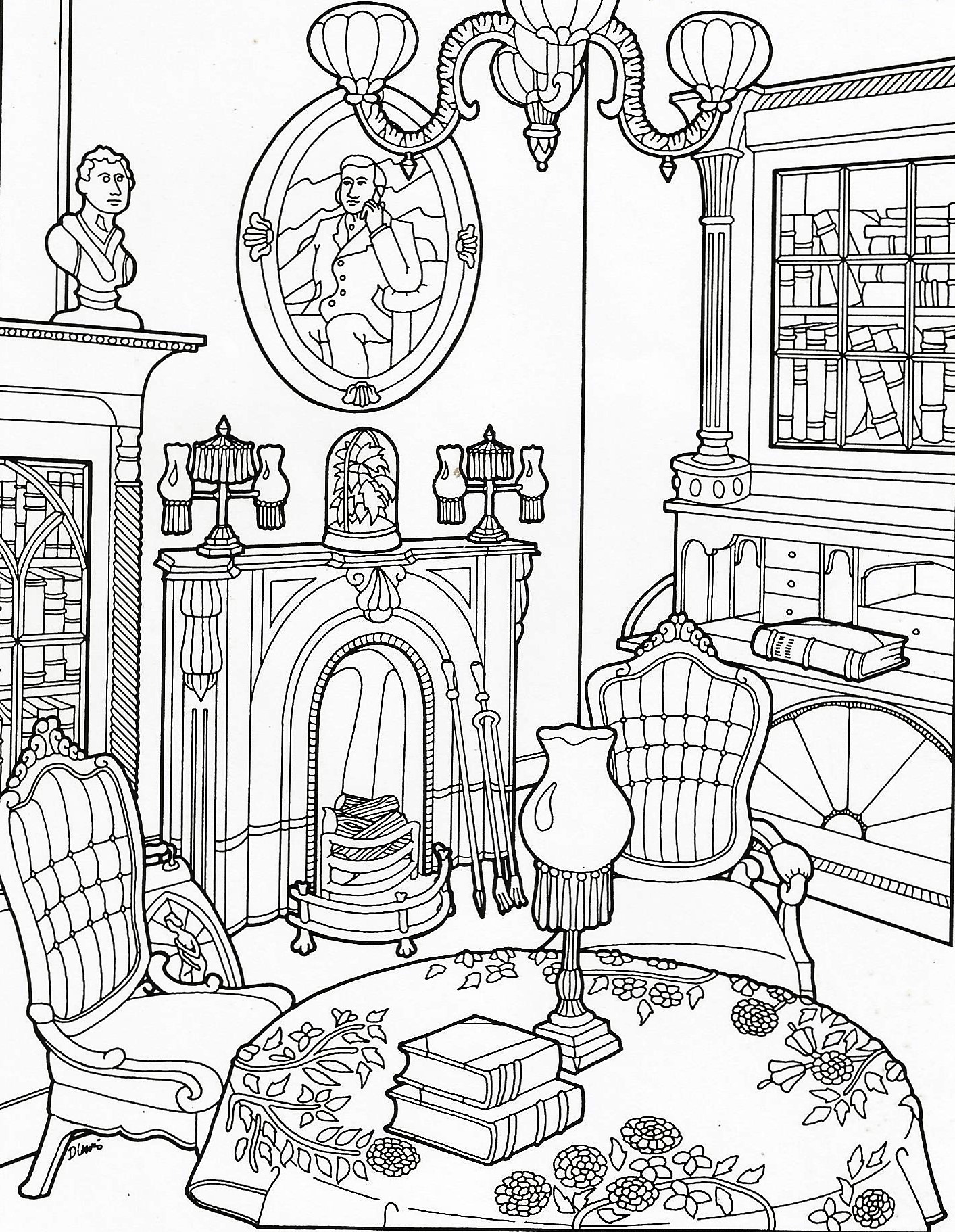 1413x1822 Coloring Pages Adult