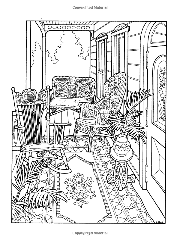 600x800 The Victorian House Coloring Book