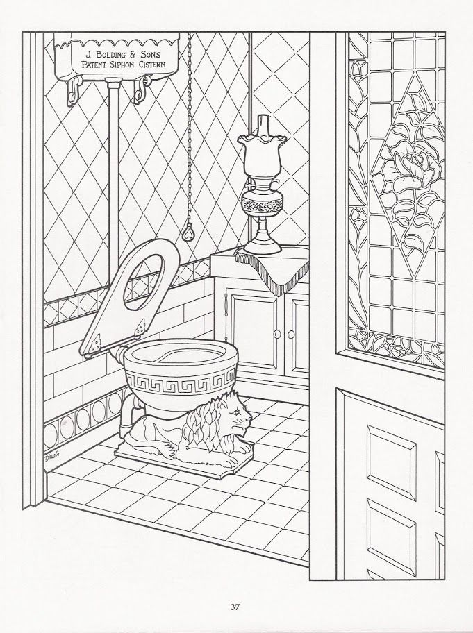 681x912 The Victorian House Coloring Book Coloring Pages