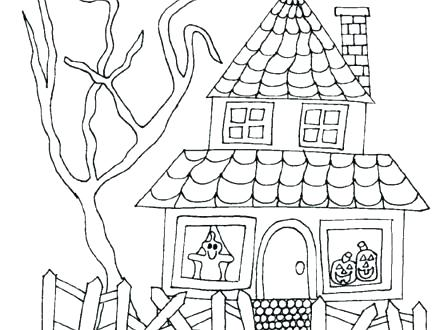 440x330 Victorian Coloring Pages Coloring Pages Houses House Coloring