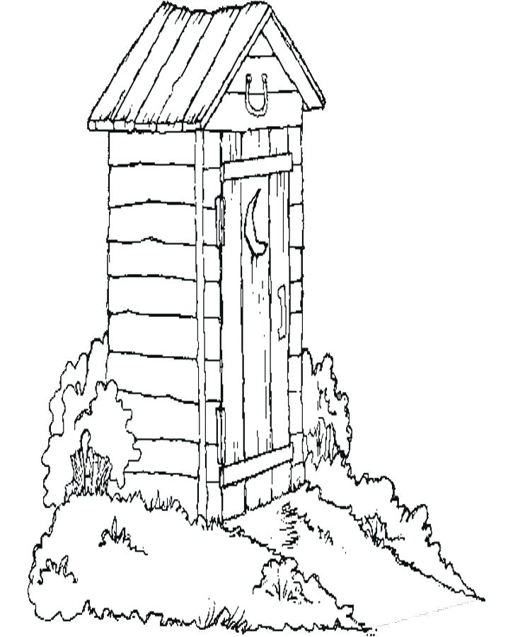 725x900 Coloring Pages Houses House Coloring Book As Well As Out House