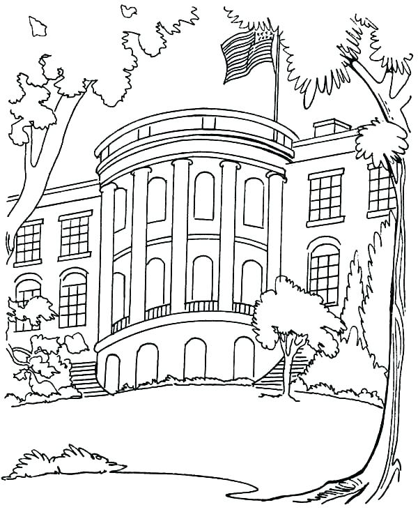 600x734 Coloring Pages Of Houses Full House Coloring Pages House Coloring