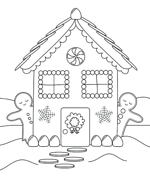 494x611 Coloring Pages Of Houses House Coloring Pages Inside House
