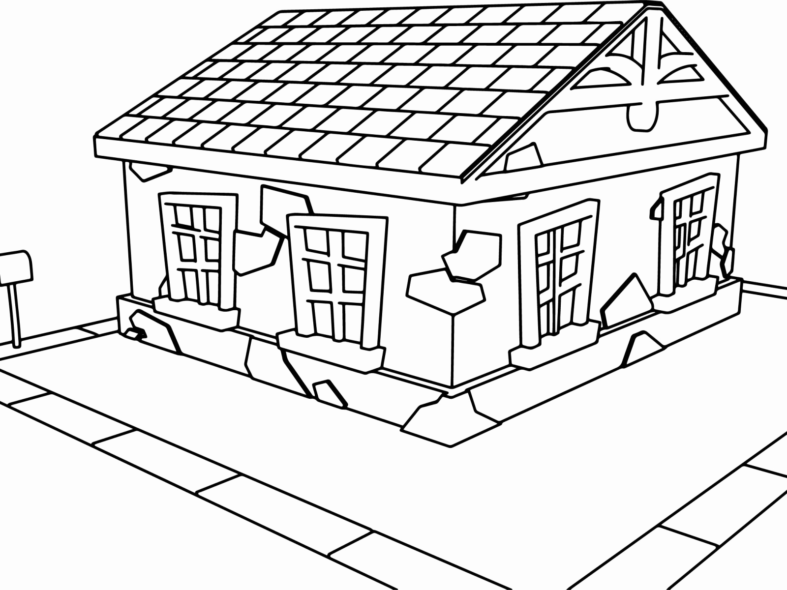 1600x1200 Haunted House Coloring Page Unique Drawing House Coloring Pages