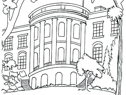 440x330 House Coloring Page House Coloring Page Birdhouse Coloring Pages