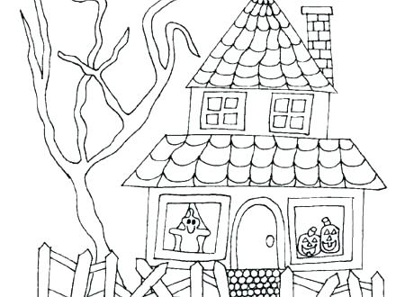 440x330 House Coloring Pages Free Dollhouse Best Coloring Justice Coloring