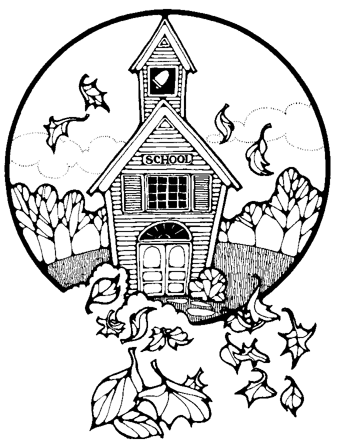 674x884 School House Coloring Pages