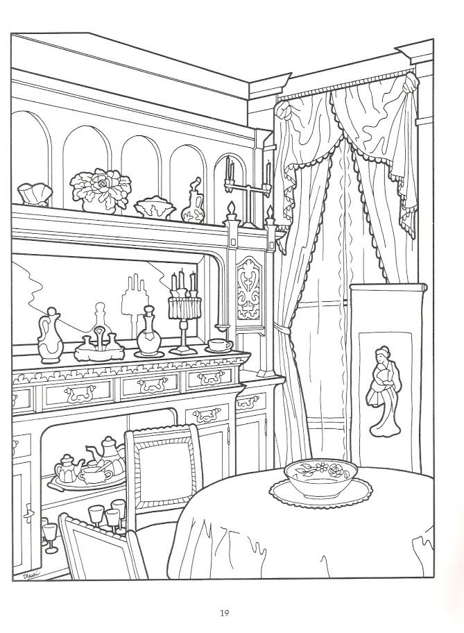 669x912 The Victorian House Coloring Book Coloring Pages