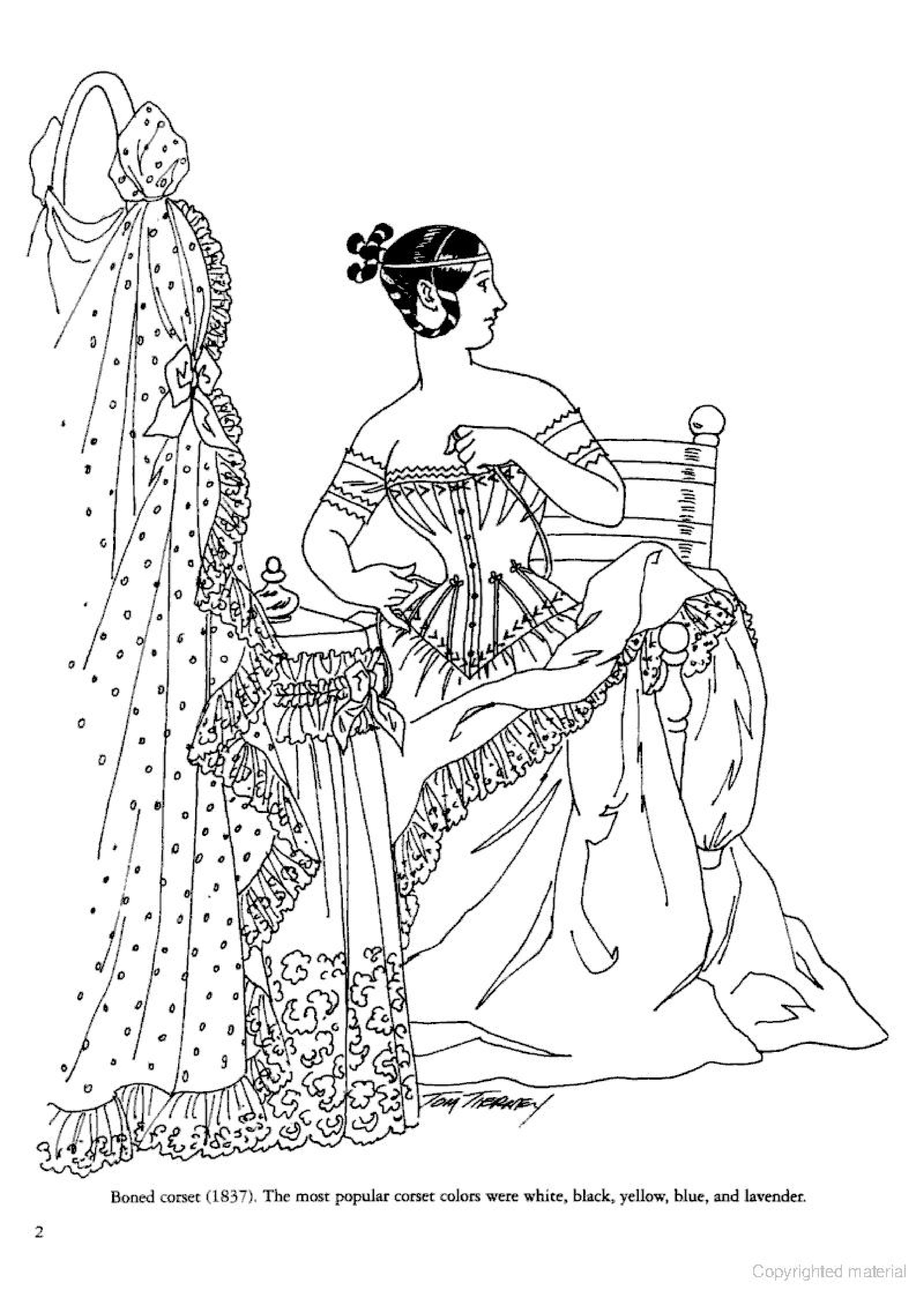 3333x4708 Victorian Coloring Pages Wonderful Fashion Free For Adults