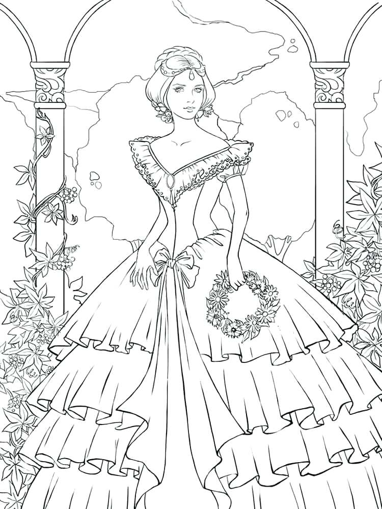 750x1000 Victorian Coloring Pages Free The Garden Of House Detailed
