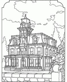 236x290 Victorian House Printable Coloring Book Page This Is A Queen Anne